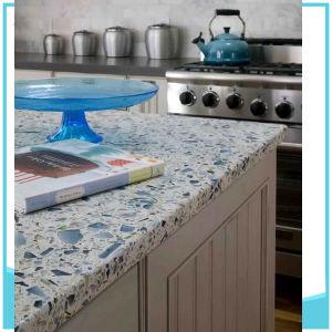 Glory Quartz Stone Counter Top Kitchen Tile pictures & photos