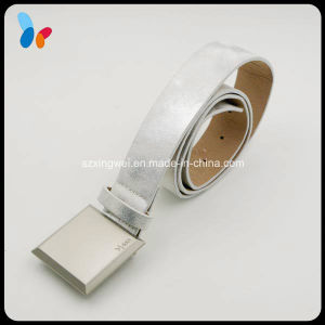 Custom Silver Belt Square Buckle Belt pictures & photos