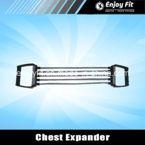 100lbs Adjustable Strength Trainer Chest Expander Fitness 5 Resistance Bands