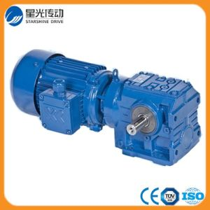 S47 Series Helical-Worm Geared Motor Helical Gearbox pictures & photos