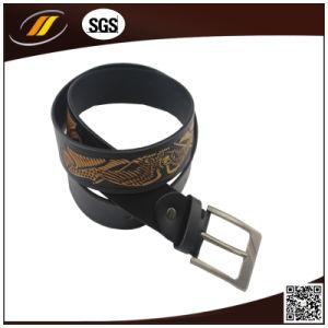 2015 Factory Custom Embossed Real Leather Men′s Belts