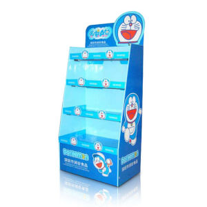 Professional Paper Display for Food, Cardboard Display with 4 Shelves pictures & photos