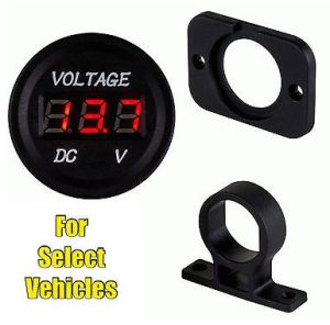Mini 12 Volt DC Voltage Battery Power Voltmeter Gauge Kit for Vehicle Car, Boat, etc pictures & photos