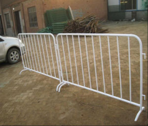 Traffic Crowd Control Barrier with Flat Feet/Steel Pedestrian Barrier pictures & photos
