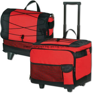 Custom Collapsible 54-Can Insulated Rolling Cooler for Beach pictures & photos