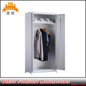 Fashion Steel Clothes Wardrobe Closet Metal Almirah pictures & photos