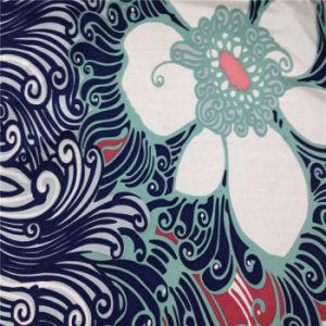 Printed Silk Jersey in Spoondrift Design