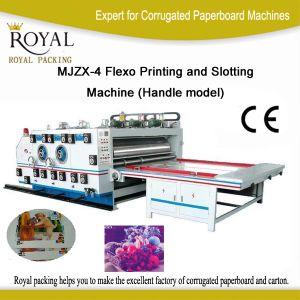 Flexo Printing and Slotting Machine (Handle model) (MJZX-4) pictures & photos