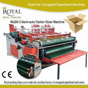 Semi-Auto Carton Gluer Machine, Folder Guler pictures & photos
