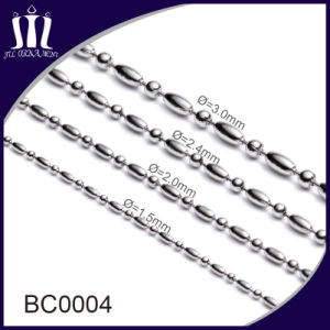 Cheap Bulk Colored Bead Ball Chains 3.2mm pictures & photos