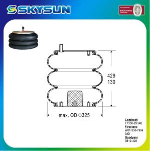 Three Convoluted Shock Absorber Air Spring for Contitech/Firestone/Goodyear pictures & photos