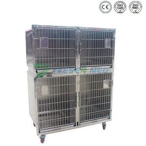 Ysvet1220 Hospital Veterniary Stainless Steel Dog Kennels pictures & photos