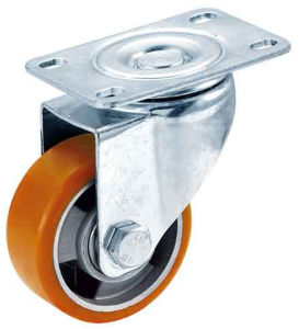 3-4 Inch PU on Aluminum Core Swivel Caster pictures & photos