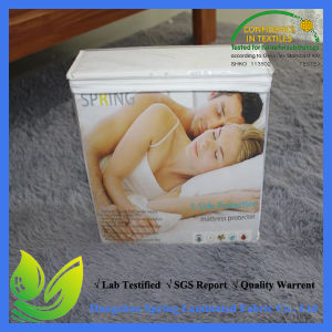 OEM 80% Cotton 20% Polyester Deep Pocket White Terry waterproof Mattress Cover pictures & photos