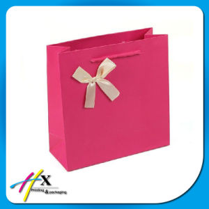2017 New Design Pink Offset Printing Paper Gift Bag pictures & photos