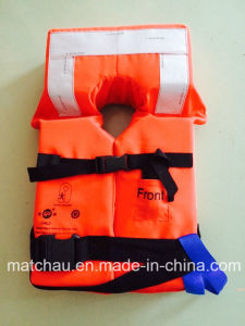 Whole Sale Orange Life Jacket with Reflective Tape pictures & photos