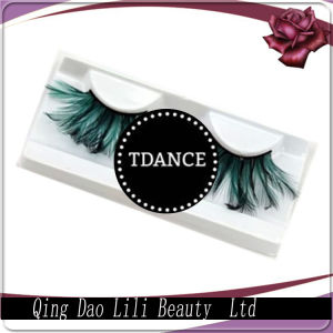 Pink Crazy Show Party Feather False Eyelashes for Sale pictures & photos