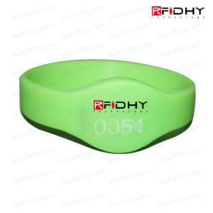 Low Cost Re-Useable High Security RFID Wristband Tag for Amusement Parks pictures & photos
