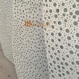 White Color Punched Round Holes Aluminum Perforated Panel for Wall Decoration pictures & photos