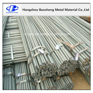 Black Concrete Steel Round Bar Thread Screw Reinforced Steel Rebar pictures & photos