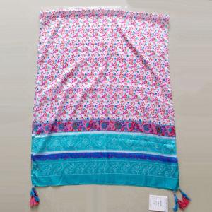 Women Printed Polyester Paj Emulation Silk Muffler Shawl pictures & photos