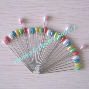 Honby Supplier Colorful Teardrop Shaped Pearl Head Hijab Pins pictures & photos