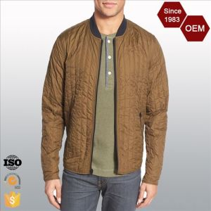 OEM Customized Lightweight Nylon Quilted Bomber Jacket pictures & photos