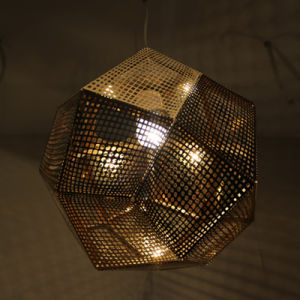 Chinese Supplier Hotel Decorative Golden Polygon Pendant Lamp pictures & photos