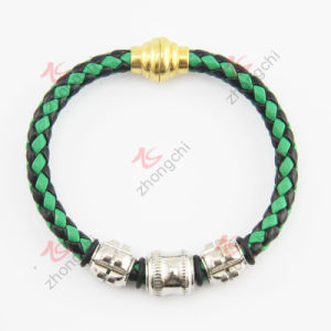 Hot Selling Gold Magnet Clasp Leather Bracelet (LB)