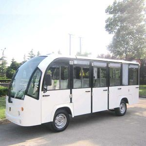 Electric Shuttle Bus Sightseeing Bus with Long Roof (DN-14F) pictures & photos