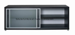 Wooden Wenge Color Slide Tempered Glass Door Buffet (Buff 1-1)