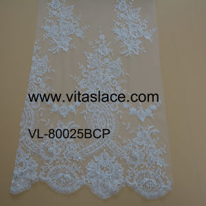 China Suppier Fashionable Bridal Lace Fabric for Wedding Dress Vl- 60011bc pictures & photos