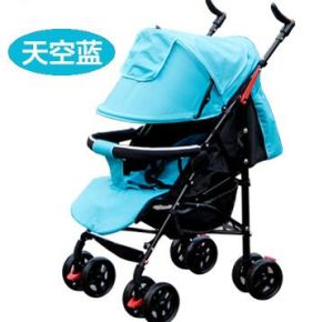 2016 Light Foldable Baby Stroller for Summer in Blue pictures & photos