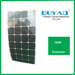 High Efficiency Grade a Cell Sunpower Flexible Solar Panel 100W pictures & photos