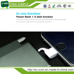 Mfi for iPhone Port Power Bank+ USB Flash Drive pictures & photos