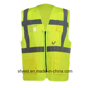 En20471 Standard High Visibility Workwear Safety Vest with Pocket