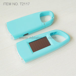 Mini LED Solar Light with Carabiner Clip (T2117) pictures & photos