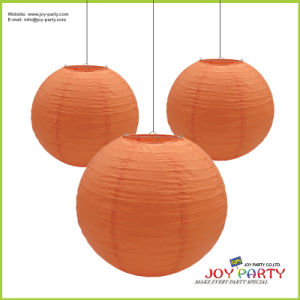 Orange Red Salmon Paper Lantern for Halloween pictures & photos