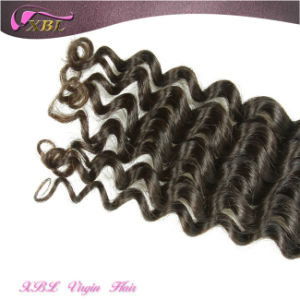 Indian Deep Wave Hair Full Cuticle Natural Color Indian Cheap Human Hair pictures & photos