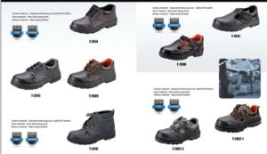 PU Injection Outsole Steel Toe Cap Safety Worker Shoes pictures & photos