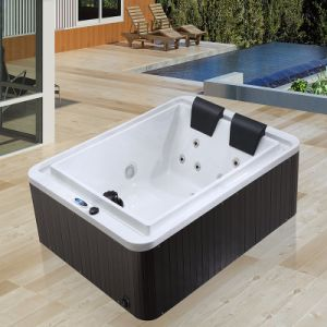 Middle Luxury Hot SPA Body Massage Double Jacuzzi M-3509 pictures & photos