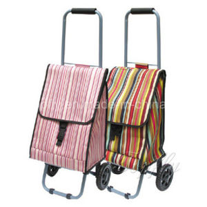 Gift Folded Shopping Cart with Waterproof Fabric Bags pictures & photos