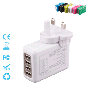 Four Ports Interchangeable Travel Plug Charger 5V=2.1A pictures & photos