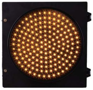 Fulll Screen Yellow Ball 8 Inch LED Traffic Signal Light Diameter 300mm