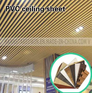 Plastic Ceiling Panel Fireproof and Waterproof PVC Decorative pictures & photos