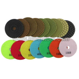 "Standard Quality 4"" Diamond Wet Polishing Pads for Granite pictures & photos"