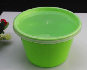 High Quality Green Color Microwave Safe Plastic Disposable Food Container pictures & photos