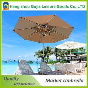 Deluxe 9′ Outdoor Patio Umbrella with Crank and Air Vent