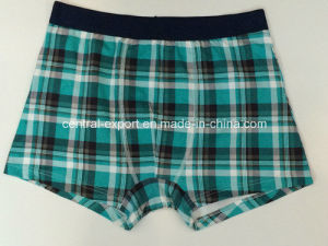 Allover Checks Printed New Style Men′s Boxer Short Underwear pictures & photos