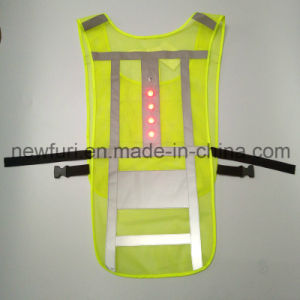 Waterproof Hi Vis LED Flashing Reflective Vest for Road Safety pictures & photos